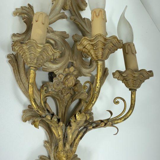 Винтажный деревянный бра в венецианском стиле