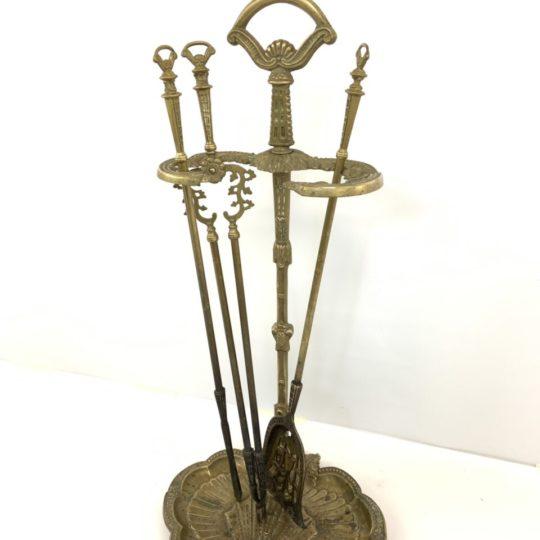 Винтажные бронзовые принадлежности для камина