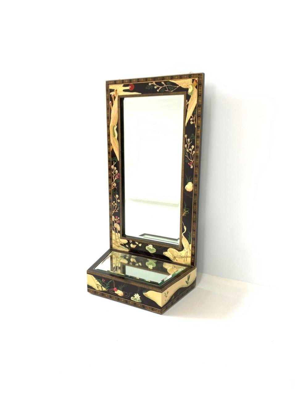 Винтажная зеркальная полка в стиле Шинуазри